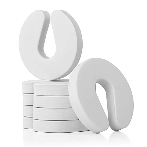 WELLGRO Klemmschutz - Schaumstoff Türstopper, 10 x 9,5 x 1,5 cm (LxBxH), weiß - Menge wählbar, Stückzahl:6 Stück