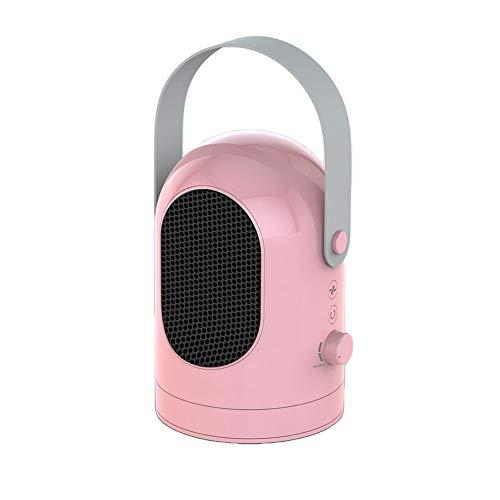 EXUVIATE Fast Heater Riscaldatore Portatile Stove Handy Heater Riscaldatore Mini Stufa Stufetta Elettrica Termoventilatore Oscillant,Rosa