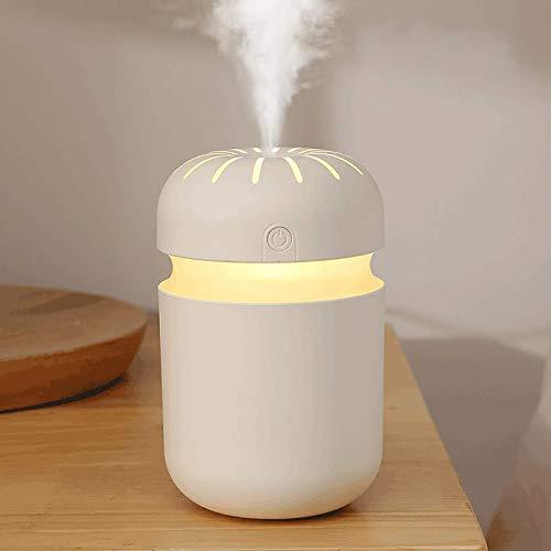 weiwei Cool Mist Humidifiers Humidificador de Aire con luz Nocturna Interfaz USB de Escritorio Whisper Quiet lámpara de atmósfera Colorida Ideal para Dormitorio habitación de bebé Sala de Estar (bl