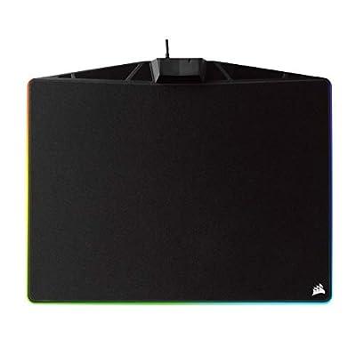 Corsair MM800C RGB Polaris Cloth Surface Mousepad (15 Zone RGB Lighting, Textile-Weave Cloth Surface, Built-In USB Pass-through Port, 400 x 340 x 35 mm) - Black