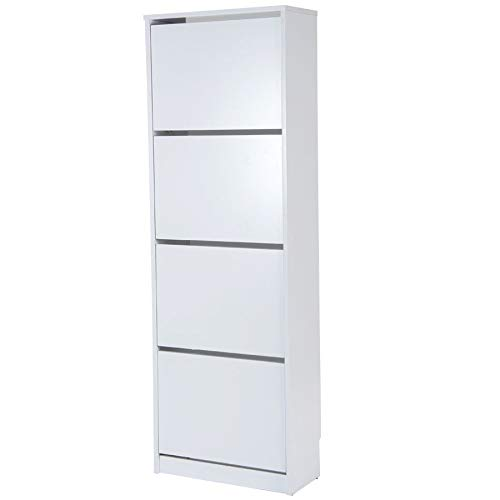 TOP KIT | Mueble Zapatero Rin 53AB - 54 x 161 | Blanco
