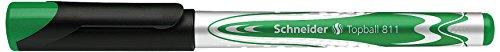Schneider Schreibgeräte Tintenroller Topball 811, grün, Mine auswechselbar