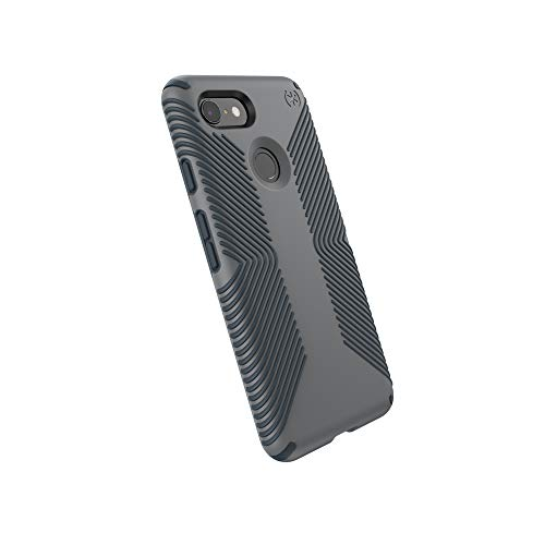 Speck Products Compatible Phone Case for Google Pixel 3, Presidio Grip Case, Graphite Grey/Charcoal Grey