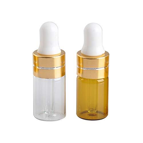 HEHXKJ Botella de envase cosmético 10pc plástico gotero Botella de Cristal gotero portátil 3 ml subceltiones para Tubo de Vidrio de Aceite Esencial Herramienta cosmética de Maquillaje Recargab