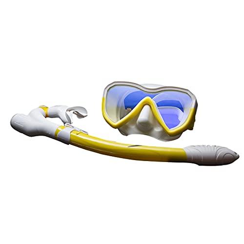 Taucherbrille Set Safe Feine Verarbeitung Schnorchel Set Nützlich Gelb