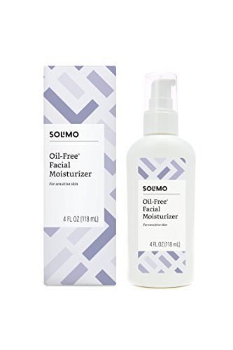 Amazon Brand - Solimo Oil-free Facial Moisturizer for Sensitive Skin, 4 Fluid Ounce, 1 pack