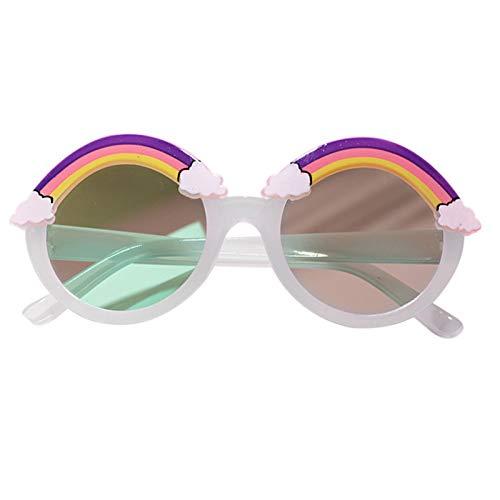 Niños Niños Gafas de sol de dibujos animados de arco iris Ultraligero UV400 Protector lindo para exteriores