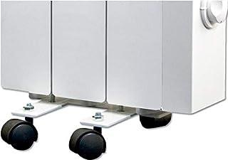 farho Juego de Ruedas de Acero Negras (4 Ruedas) para Radiadores Electricos · Ruedas para Emsiores Termicos · Fácil Instalación