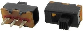 DealMux a12013100ux0111 knop 2 Posição 1P2T SPDT verticale schuifschakelaar, 0,5 Amp, 50V DC, 50 delen, 3 mm
