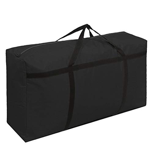 KXF 180L Large Storage Bag Thickened Sturdy 600D Oxford Organizer Bags Durable Festival Decorations Organizer Storage Bag Under Bed Storage Travel Duffel Bag Back to School Carry Bag,100x60x30cm