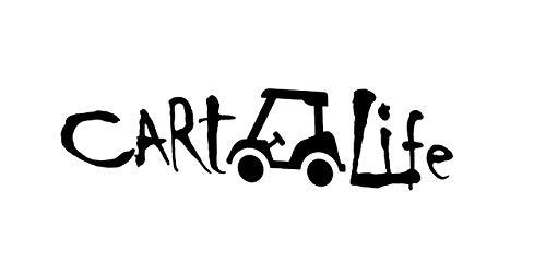Makarios Cart Life Golf MKR Decal Vinyl Sticker  Cars Trucks Vans Walls Laptop Black 7.5 x 2.0 in MKR1970