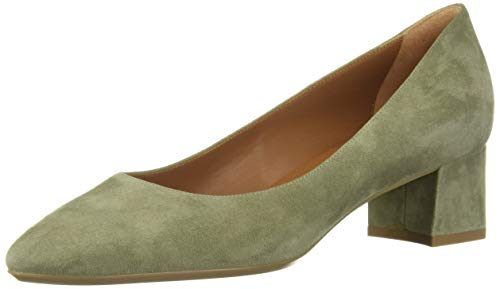 Aquatalia Women's Pasha Dress Suede Pump, sage, 5.5 M US
