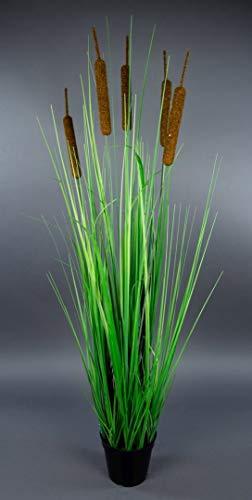 Schilfgras 100cm im Topf YF Kunstpflanzen Dekogras Grasbusch künstliches Gras Schilf Dekogras Schilfrohr