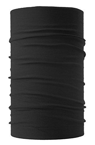 HeadLOOP Multifunktionstuch Schal Halstuch Kopftuch Microfaser (Schwarz)