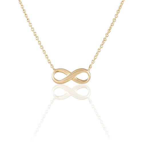 Rendez-vous RueParadis Paris - Collar con Colgante Mobius - Diseño Infinito - Bañada En Oro 18 Quilates 3 Micras - Joya De Mujer Exquisita - Rebajas De Verano