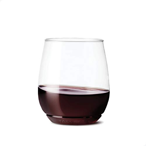 TOSSWARE POP 14oz Vino SET OF 48, Recyclable, Unbreakable Unbreakable & Crystal Clear Plastic Wine Glasses