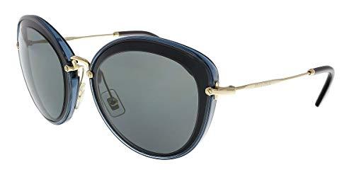 Miu Miu MU50RS 1AB9K1 Black/Crystal Grey MU50RS Cats Eyes Sunglasses Lens Cat