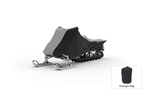 Weatherproof Snowmobile Cover Compatible With 2010 Yamaha Phazer Mtx - Outdoor & Indoor - Protect From Rain Water, Snow, Sun - Securing Straps - Trailerable - Durable Material - Storage Bag