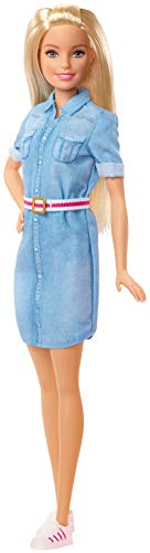 Barbie- Dreamhouse Adventure Muñeca con vestido vaquero y