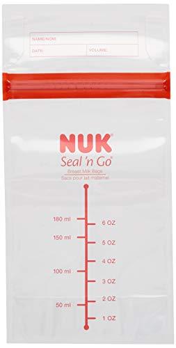 NUK Simply Natural Seal n' Go Breast Milk Bags, 50CT