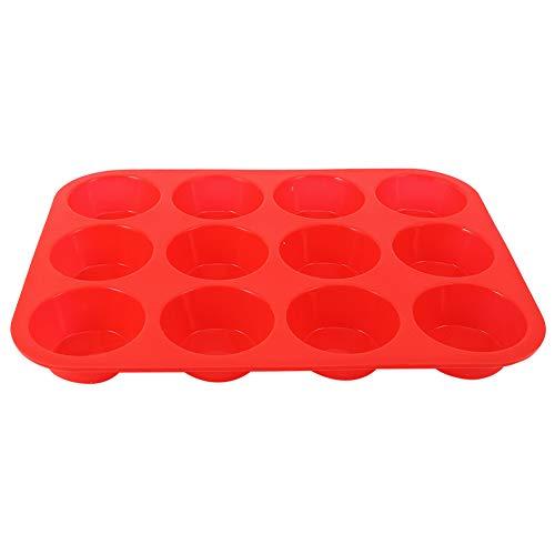 Surebuy Muffin, Rojo Versatilidad Molde para Hornear DIY No Pegajoso Aparato De Cocina Silicona De Grado Alimenticio para El Hogar para Hornear