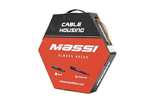 Massi Funda para Cables de Cambio Bicicleta, Adultos Unisex, Naranja