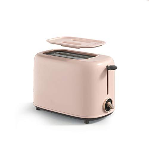 QYT-Tostadora para 2 rebanadas de Pan, 2 Ranuras, 6 ajustes de Tostado, Bandeja para Migas extraíble, 650 W,Tostadora Automática Simple,tostadora doméstico Multifuncional,Rosado