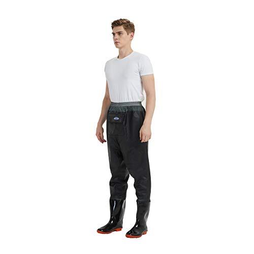 Waders de Pecho Pantalones de vadeo de Pesca con Zapatos Vadeadores de Agua Cruzada Transpirables Vadeadores de Caza para Hombres (UK Size 7- EU Size 41)