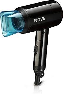 Nova NHP 8105 1200 Watts Hot & Cold Foldable Hair Dryer for Women (Black)