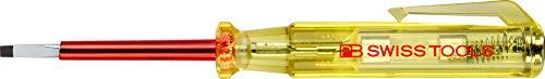 PB Swiss Tools Schlitz Schraubendreher Spannungsprüfer 110-250 Volt, DIN VDE 0680-6, 100{3311637cc5d609fe877958f6a263db64f225f6318b0c78753ab5e1f5a169b221} Swiss Made, Lebenslange Garantie