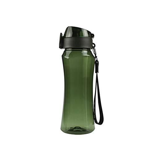 Botella De Deportes De Plástico 650ml, Botella De Bebidas Reutilizables, Taza De Espacio Adecuada para Al Aire Libre Fitness Camping Yoga Corriendo Montando No Tóxico E Inofensivo(Color:Verde)