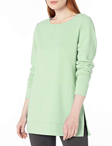 Amazon Essentials Women's Open-Neck French Terry Fleece Tunic, Bright Mint, XX-Large