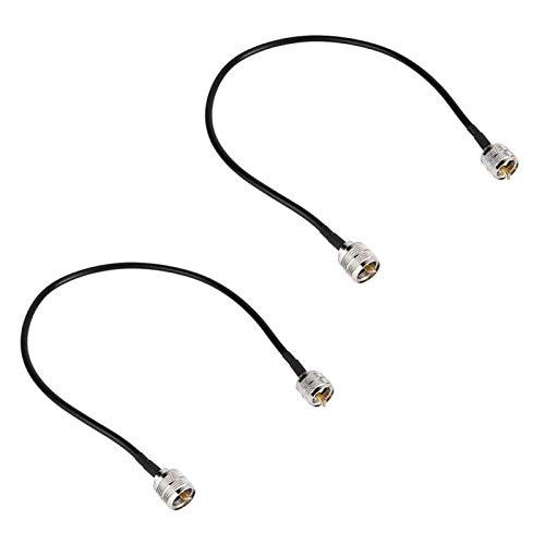 Adattatore antenna coassiale Cavo antenna in materiale di ottone di alta qualità, per scanner radio, ricetrasmettitore radioamatore,