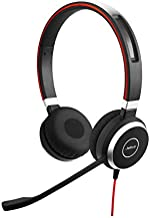 Jabra Evolve 40 Professional Wired Headset, Stereo, UC-Optimized – Telephone Headset for Greater Productivity, Superior Sound for Calls and Music, 3.5mm Jack/USB Connection, All-Day Comfort Design