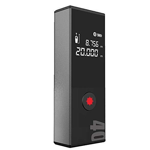 CARACHOME Laser-Entfernungsmesser, Tragbarer 40M-Laser-Entfernungsmesser Digitaler Laser-Entfernungsmesser Laser-Entfernungsmesser Bandentfernungsmesser Für Hausvermessung