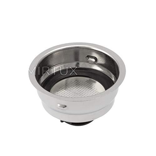 MIRTUX Filtro para Cafetera de 2 Tazas Marcas Delonghi EC, Kenwood ES020 y Whirplool ACEC10.