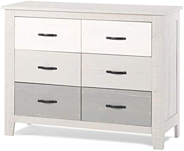Forever Eclectic By Child Craft Long Beach 6 Drawer Dresser Seascape Gray