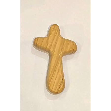 Croce per pregare in legno d'ulivo Made in Italy 10 centimetri