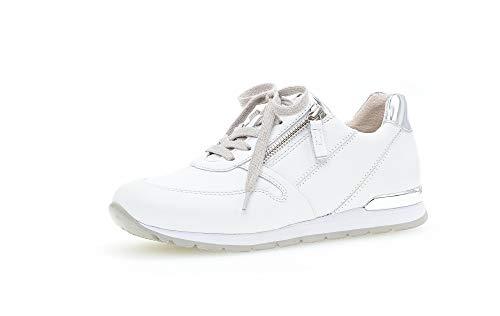 Gabor Zapatos bajos para mujer, zapatillas de mujer, talla mediana, ancho G, color Blanco, talla 42 EU