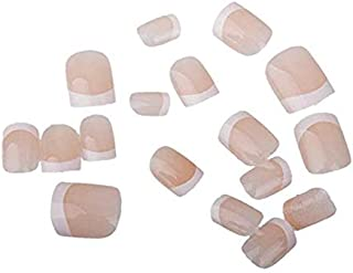 Ear Lobe & Accessories Reusable False French Beige Nails 24pcs