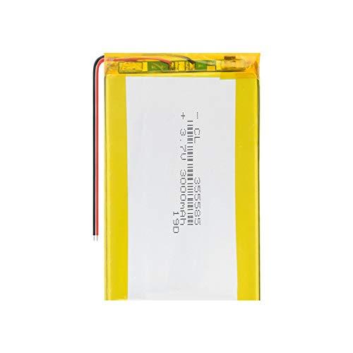 HTRN BateríAs De PolíMero De Litio De 3.7v 355585 3000mah, Batería Lipo Recargable para Selfie Stick DVD Power Bank Linterna Grabadora De Conducción 1piece