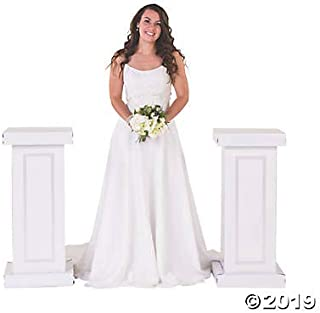 White Column Cardboard Stand Ups 3 feet Tall (Set of 2) Wedding Decorations