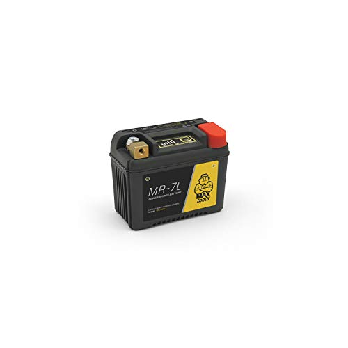 MAXTOOLS MR-7L, Superleichte LiFePO4-Batterie von MAXTOOLS für Motorräder, Quads und ATVs mit 12V, verstärktes Gehäuse und Bezeichnung Staat des Aufladens, 140CCA, schwarz