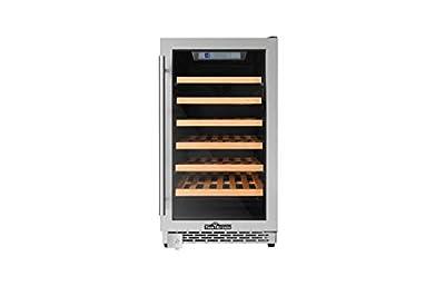 "Thorkitchen HWC2405U 40 Bottles 18"" Built-in Wine Cooler, stainless steel"