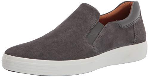 ECCO mens Soft 7 Street Slip on Sneaker, Magnet/Dark Shadow Suede, 10-10.5 US