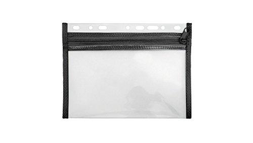 VELOFLEX 4350080 - Reissverschluss- und Mundschutztasche A5, Velobag XXS, abheftbar, schwarz, 1 Stück