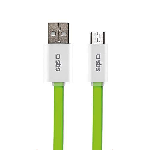 SBS gegevens en laadkabel kabel plat groen