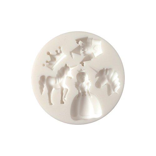 Loisirs Créatives DIY - Molde de silicona (diámetro 7 cm), diseño de unicornio