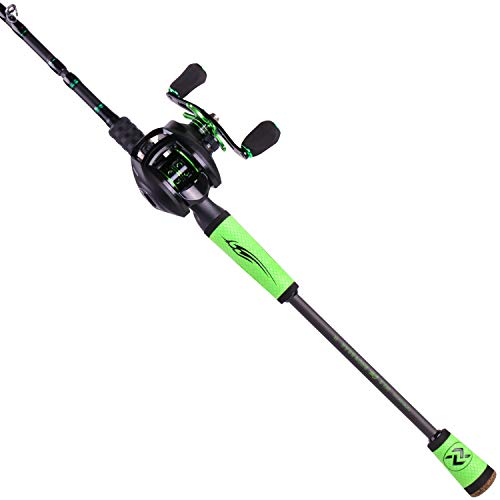 Sougayilang Ultralight Fishing Rod Reel Combos Portable Light Weight High Carbon 4 Pc Baitcaster Fishing Pole with Baitcasting Reel for Travel Freshwater Fishing-2.4M-Right Handed