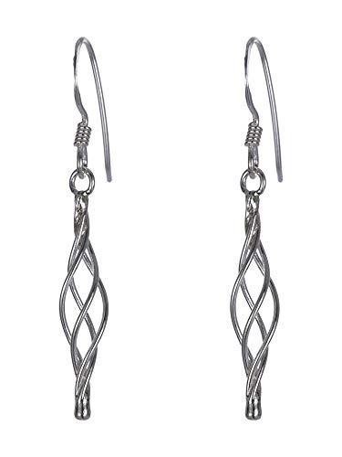 Sterling zilveren Twister oorbellen